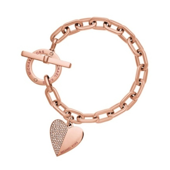 c4b4de61c126ff Michael Kors Rose Gold Tennis Heart Bracelet. M_5c3e165b2beb79d76ba6aed6